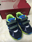Boy's Saucony Baby Catalyst HL Blue Sneakers Shoes ST51900 WIDE NIB