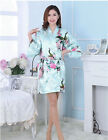 Women Plain Silk Satin Robes Bridal Wedding Bridesmaid Bride Gown