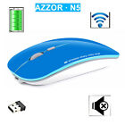 2.4G AZZOR N5 Silent Slim Piano Paint Rechargeable Wireless Mouse Apple Macbook