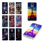 Soft TPU IMD Back Case + Transparent TPU Bumper Skin For Samsung S5 I9600 JMHG