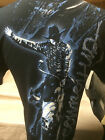 New Mens Western Rodeo Bull rider Cowboy Up T-Shirt Black