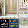 Real wooden TAPE blinds - APPLE WASH GREY - 2 Year guarantee - Style Express