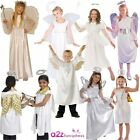 KIDS ANGEL BOYS GIRLS NATIVITY PLAY CHRISTMAS FANCY DRESS COSTUME WINGS HALO NEW