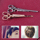 New Women Girls Gold/Silver Scissors Shape Hair Clip Hair Pin Hair Accessory