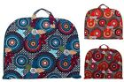 Floral Kaleidoscope Cotton Quilted Lightwgt Garment Luggage Overnight Travel Bag