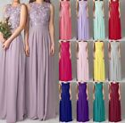 2015 New Lace Long Chiffon Formal Evening Party Prom Bridesmaid Dress Size 6-26