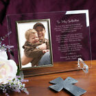 Personalized To My Godparents Glass Picture Frame Engraved Godparent Photo Frame