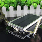 Ultra-thin 50000mAh 2USB Solar Power Bank LED External Battery Charger For Phone