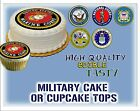 air force cake topper - Military Cake topper Edible picture sugar navy army marine corps air force paper