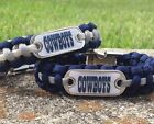 Dallas Cowboys Paracord Bracelet w/ NFL Dog Tag and Metal Buckle. AWESOME!!! on eBay