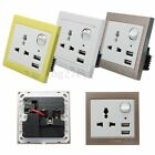 Dual USB Charger Universal Plug Wall Socket Faceplate Outlet Power Supply Switch