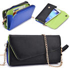 PU Leather Smart-Phone Fashion Wallet Case Cover & Crossbody Clutch X6UB1