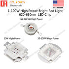 100w high power led - 1W 3W 5W 10W 20W 30W 50W 100W Red 620-630nm High Power LED Chip Light Beads Lamp