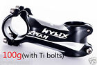 "Hylix bike Stem 31.8mm-1 1/8""-17°-With 6 Ti bolts-100g only-Ultra Light"