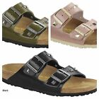 BIRKENSTOCK ARIZONA STUDDED PINK BLACK ROSE OLIVE WOMEN'S SA