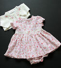 Girls  Floral Dress Knickers Set Embroidered Cardigan 0/3 , 6/9 Months