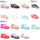 LADIES WOMENS SUMMER JELLY SANDALS CASUAL BEACH HOLIDAY FASHION SHOES