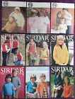 Sirdar Knitting Patterns Childs Sweater Jacket Top - Choose from Drop-down Menu