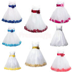 Girls Formal/ Bridesmaid/ Princess/ Wedding/  Petals Dress/ communion dress/