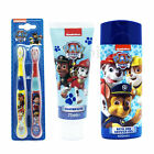 KIDS PAW PATROL GIFT SET OPTION TWIN TOOTHBRUSH TOOTHPASTE BATH SHOWER GEL