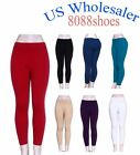 10 PC Wholesale Lots of Women's One Size Cotton Legging Brush Inside NEW W/ Tag