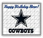 Dallas Cowboys NFL football image cake topper frosting sheet #4491 $11.7 USD on eBay
