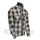 Pioneer DuPont ? Kevlar ® lined Check Riding Shirt Black and White