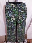 MISSES MID CENTURY MODERN SPRING PRINT THIN WALE CORDUROY PANTS ETCETERA 4