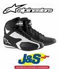 ALPINESTARS FASTER MOTORCYCLE BOOTS SHORT ANKLE SUMMER SPORTS BLACK WHITE J&S