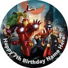 Avengers edible icing cake toppers. Personalise for your occasion!