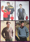 Patons Knitting Patterns Mens Sweaters Cardigans - Choose from Drop-down Menu