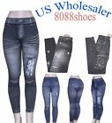 Wholesale Lots Women's One Size Printed Stretch Footless Leggings NWT 10 PC