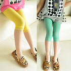 Candy Color Toddler Baby Girls Short Leggings Lace Velvet Stretch Render Pants