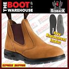 Redback UBBA Non Safety Work Boots. Elastic Sided, Bobcat Style. Suede Finish.