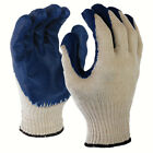 SDI 36 Pairs Natural 10 Gauge Poly Cotton Blue Latex Palm Coated Working Glove