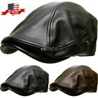 Classic PU Leather Newsboy Gatsby Ivy Hat Golf Driver Ascot
