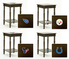 FCR25 NEW NFL TEAM THEME CAPPUCCINO ESPRESSO FINISH WOODEN END TABLE NIGHT STAND