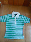 TRESPASS TURQUOISE WHITE GREEN STRIPE RUGBY SHORT SLEEVED T SHIRT TOP S NEW