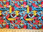 SUPER HEROS #2  FABRICS Sold INDIVIDUALLY NOT AS A GROUP By the HALF YARD