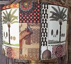 Moroccan Lamp Shade Lampshade shabby chic exotic palm trees vintage FREE GIFT