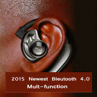 Wireless Bluetooth 4.0 Headphone Headset Earbud for Iphone cell phone Samsung LG