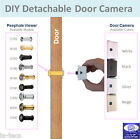 Easy DIY Wide Angle Peephole Viewer Detachable Door Camera for Home Safety