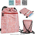 6 - 8 inch Tablet Paisley Protective Drawstring Backpack Case Cover BG10P2B2-2