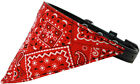 Red Western Bandana Pet Dog Collar - Black or Red Collar