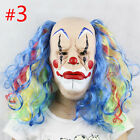 New Scary Halloween Mask Latex Hair Zombie Devil Clown Costume Party Accessories