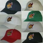 Cleveland Indians Polo Style Cap ~Hat ✨VINTAGE MLB PATCH/LOGO ✨7 HOT COLORS ✨NEW on Ebay