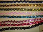 SEQUIN BRAID - 3 METRES x 15mm - VARIOUS COLOURS - STAGE COSTUMES, DANCEWEAR