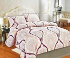 Tache Maroon Mandala Fancy Patterned Paisley Rustic Super Soft Duvet Cover Set image