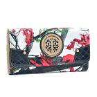 New Realtree Tri-fold Women Camo Leather Wallet Checkbook Card Bag Purse w/ Logo