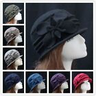 Fashion Lady Women 100% Wool Felt Butterfly Vintage Flanging Dome Hat Cap Gift